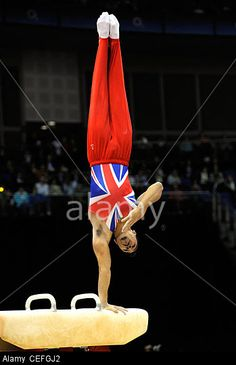 Louis Smith (Great Britain) competing on Pommel Horse