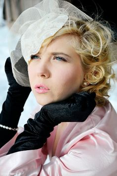 Tulle veil Birdcage veil Lace veil Lace wedding veil  Romantic wedding veil Vintage wedding veil Blusher veil 1920s veil. $120.00, via Etsy.
