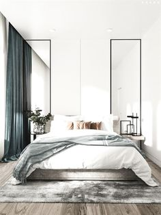 Grey Bedroom Ideas - Leading 10 Relaxing Grey Bedroom Ideas that You Will Certainly Adore. Top 10 Fascinating Grey Bedroom Ideas for Sweet Dreams. A Crisp and also Classy Design Bedroom with Tidy Blac Home Decor Bedroom, Perfect Bedroom, Modern Bedroom, Bedroom Inspirations, Minimalist Bedroom Design, Bedroom Interior, Modern Bedroom Design, Interior Design Bedroom, Small Bedroom