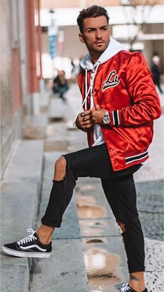 49 Stylish Mens Style Casual Inspiration Ideas - Men's style, accessories, mens fashion trends 2020 Men Looks, Trendy Fashion, Mens Fashion, Fashion Outfits, Style Fashion, Men Street, Street Wear, Outfits Hombre, Casual Street Style