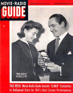 """Fredric March and Ingrid Bergman on the """"Movie-Radio Guide"""" cover, February 1942"""
