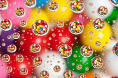 Gumballs under water drops by Northwest dad, via Flickr