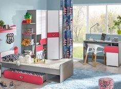 Nowoczesna kolekcja dla dzieci i młodzieży. Kids Bedroom Sets, Storage Solutions, Your Child, Modern, Furniture, Design, Home Decor, Stylish, Products