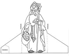 Nikolaus - New Ideas Coloring Pages For Grown Ups, Coloring Pages For Kids, St Claus, St Nicholas Day, Theme Noel, Catholic Art, Winter Kids, Free Printable Coloring Pages, Christmas Crafts For Kids