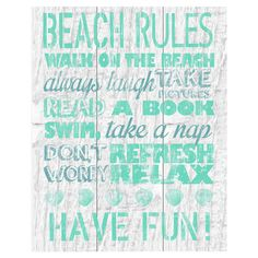 Showcasing a beach-chic typographic motif, this charming canvas giclee print is a lovely addition to your foyer or gallery wall.  Pr...