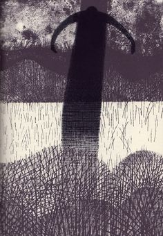 Charles Keeping. 'Ghost Stories of M. R. James'. Lithograph. The Folio Society, 1973.
