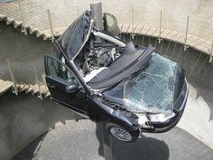 Car Crash Sculpture.