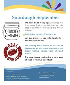 We are supporting #realbread #sourdough September.  Buy artisan bread and get a ticket to our prize draw for a place on one of our #realbread bread classes.  #properfood #burscough #ormskirk #foodandfarming #merlinsbakerycafe #bakingclass #sourdough