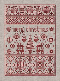 Small Christmas Sampler Instant Download PDF Pattern