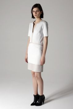 Helmut Lang Pre-Fall 2013: Helmut Lang returned to its roots full force, incorporating a neutral palette and clean lines to every look.