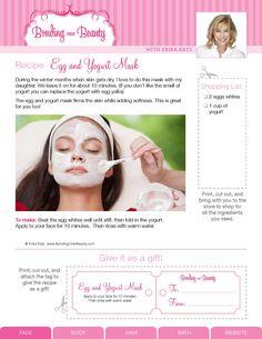 Bonding Over Beauty DIY Beauty Recipes by Erika Katz