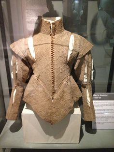 Men's Doublet Natural Linen Embroidered with French Knots, 1625 - 1630