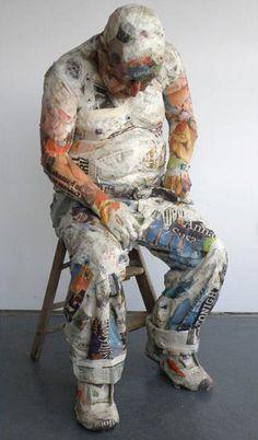 Will Kurtz - recycled newspapers