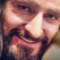 Close-up of Richard Armitage as a smiling Thorin Oakenshield