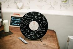 Record LP wedding sign