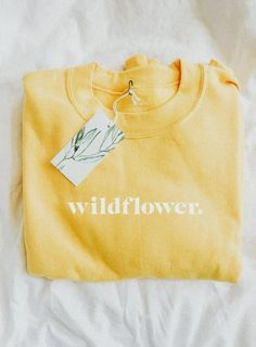 ce47fdd127e a cozy sunshine yellow sweater to remind you of the wildflower message. you  are a wild beautiful mess in .