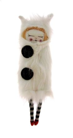Fur coat Girl by Lucy Brasher of The cat in the shoe (Etsy shop)