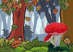 Herbststimmung, Pilze, Deko, Nadelpilz, Bio-Stoffe Siebenblau öko-faire Stoffe  © SteffiHanusch
