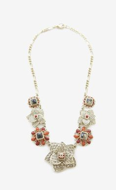 Chanel Gold, Red And Multicolor Necklace.