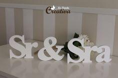 La Tienda Creativa - Letras para decorar y mucho más: Letras para bodas - Sr & Sra