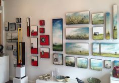 ....and the walls are filled!!! Show at Eclectic Gallery. Encaustic artwork