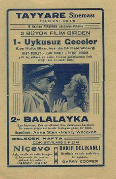 """Balalayka"" oynuyor Tayyare Sineması'nda"