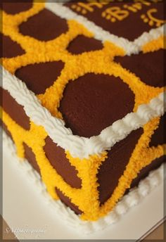 giraffe cake... this is a cute idea!
