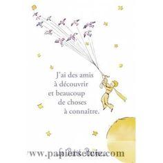 """Carte Le Petit Prince """"J'ai des amis à découvrir..."""" Little Prince Tattoo, The Little Prince, Little Princess, Petit Prince Quotes, Le Vent Se Leve, Magic Quotes, French Quotes, Write It Down, The Covenant"""