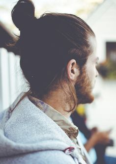 As Seen at the Gym: The Samurai Pony: The Daily Details: Blog : Details. Otherwise known as Man Bun.