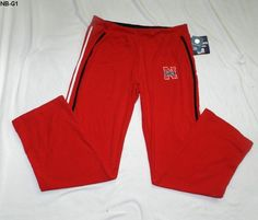 Womens Size Large Nebraska RED  Warm-up Lounge Pants NEW Official #Starchild3  $15.99