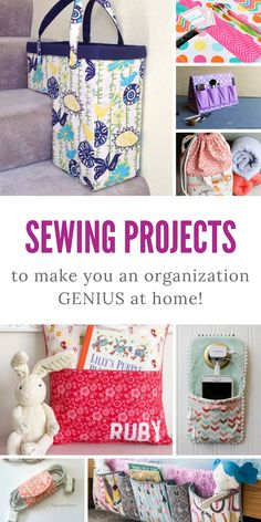 Sewing projects to help with organisation around the home - sewing tutorials