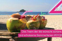 #Sommerferien 2013:  Raus aus der Schule und rein in die Ferien – nach der heutigen Zeugnisausgabe können nun endlich auch die SchülerInnen aus Bayern ihren Klassenräumen 6 Wochen lang den Rücken kehren - wir wünschen allen ein paar schöne, ereignisreiche Ferientage :-)!! Euer ibb Pinterest Team