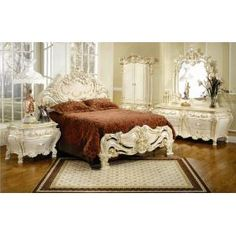 French Provincial Furniture Home Furniture Ideas Pertaining To French Provincial Bedroom Sets Plan Victorian Bedroom Furniture Sets, Classic Bedroom Furniture, Bedroom Sets, Queen Bedroom, Victorian Decor, Dream Bedroom, Queen Headboard, Master Bedroom, Bed Headboards