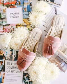 6029615e4bd day dreaming in blush World Of Interiors, Beautiful Shoes, Loafers,  Tassels, Blush