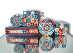 Fimo Cristalline, tuto et bijoux en polymère: Fimo canes et perles
