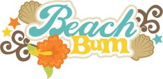 Beach Bum SVG scrapbook title