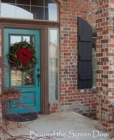 Really like this color for a door too & maybe charcoal for shutters
