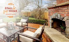 The outdoor fireplace | Better Homes and Gardens Real Estate Life