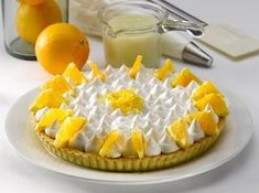 Tarta de naranja cremosa www. Chile, Dinner, Fruit, Healthy, Sweet, Desserts, Recipes, Food, Yummy Cakes