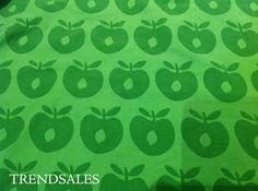 Småfolk Stof, stofrest til patchwork - str. 30x30 - Grøn, mørkegrøn