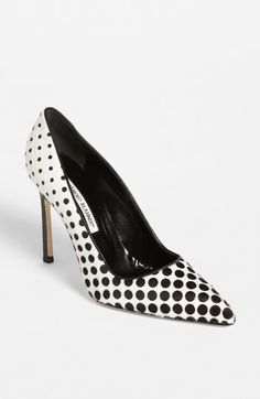 These are darling, but I will never in a million years spend that much on a pair of shoes!   ....Manolo Blahnik 'BB' Pump available at #Nordstrom