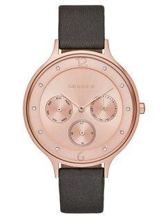 SKAGEN ANITA | SKW2392 Watch Sale, Cool Watches, Simple Watches, Watches For Men, Casual Watches, Leather Accessories, Jewelry Accessories, Rose Jewelry, Skagen Watches