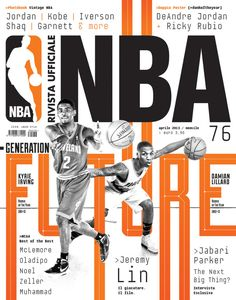 I love the type selection chosen for the cover of magazine. The cover reminds of the trading cards that they NBA released in the early I think that this cover is a perfect marriage between imagery and typography. Sport Inspiration, Graphic Design Inspiration, Editorial Layout, Editorial Design, Magazine Sportif, Gfx Design, Layout Design, Design Art, Design Brochure