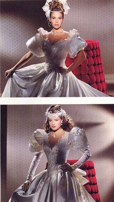Beautiful Wedding Gowns, Classic Wedding Dress, Glamorous Wedding, Dream Wedding Dresses, Beautiful Dresses, Bridal Veils And Headpieces, Bridal Gowns, Vintage Gowns, Vintage Bridal