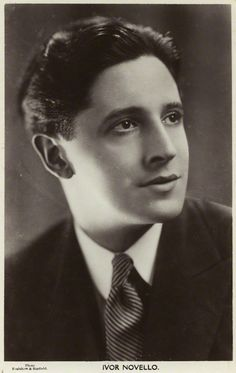 British actor and composer Ivor Novello in 1920′s.