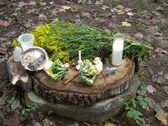 Mabon Altar Not to bad of an altar considering we were camping at a pagan gathering in North Carolina for Mabon, everyone brought a little bit of . Meditation Room Decor, Meditation Space, Cthulhu, Reiki, Witchy Garden, Sacred Garden, Pagan Altar, Wiccan, Hedge Witch
