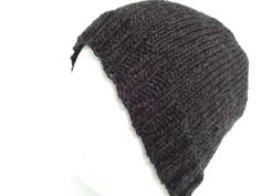 Mens Knitted Skull Cap Hat Slouch Cap Ski Hat Winter by GraciLuS, $20.00