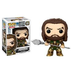 Justice League Movie Aquaman Pop! Vinyl Figure - Funko - Justice League - Pop! Vinyl Figures at Entertainment Earth