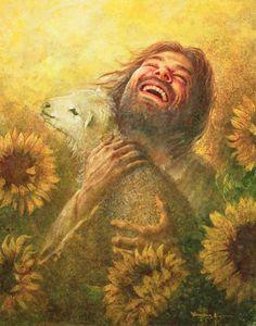 Images Du Christ, Pictures Of Jesus Christ, Christian Paintings, Christian Artwork, Christian Artist, Art Prophétique, Jesus Smiling, Jesus Artwork, Image Jesus