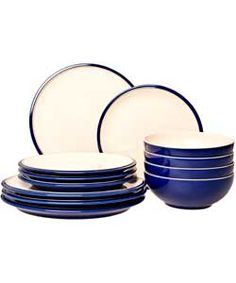 Denby Cook and Dine 12 Pieces Boxed Set - Royal Blue.